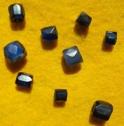 Authentic Indian Artifact 9 Russian Blue Antique Trade Beads Oregon Arrowheads