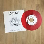 Queen [the Show Must Go On] Ltd Edition Red 7andrdquo Vinyl Record Italy 1994 - Rare