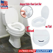 4 Height Elevated Toilet Seat Riser For Kids Elderly Handicap Safety W/lid