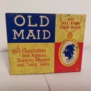 Vintage Old Maid Complete Card Game All-fair 1940's Fairy Tale Characters