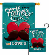 Dad Mustache Garden Flag Fatherand039s Day Family Decorative Gift Yard House Banner