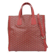 Goyard 2way Tote Bag Tote Bag / Coated Canvas X Leather Red