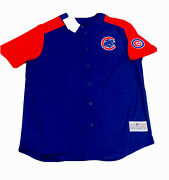 Chicago Cubs Unisex Button Up Jersey Size Xl Nwt Team Apparel Royal Red Sale