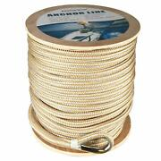 5/8 X600and039 Double Braid Nylon Boat Dock Line Anchor Line With Stainless Thimble