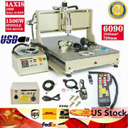 Usb 4axis Cnc 6090 Router Milling Engraver Diy 3d Cutting Machine+controller Kit
