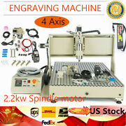 Usb 6090 4 Axis Cnc Router Engraving 3d Milling Carving Machine 2.2kw+controller