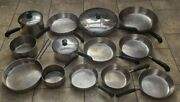 16 Vintage Revere Ware Copper Clad Bottom Cookware Usa Made Pots Pans Covers Lot