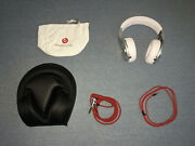Rare Beats Dr. Dre Pro Headphones White With Carrier Included Brand New