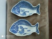 2 Antique Blue And White Plates China Old China.the Condition Is Good.