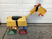 Vintage 1950andrsquos Hubley Old Pal The Walking Horse Ride On Metal Toy Riding Rare
