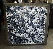 Noted Woman Artist Marta Whistler - Modern Abstract Painting - Pollock Style