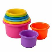 The First Years Stack Up Cup Toys, 8 Bright Color Cups W/large Numbers On Bottom