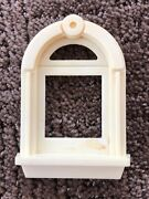 Vtg Plastic Outside Window Frame Arch Round Top For 50's Metal Tin Doll House