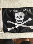 Pirate 2 Sided Nylon Boat Flag Stitched Usa Happy Hour