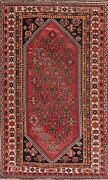 Antique Geometric Oriental Lori Area Rug Wool Hand-knotted Tribal Carpet 5and039 X 9and039
