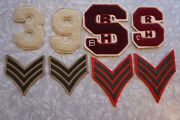Military Us Marine Corps Letterman Sports Vintage Patches Lot. Free Shipping
