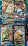 Pokemon Booster Packs 8 Pack Lot 2 Shining Fates And Vivid Voltage, Battle Styles
