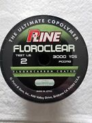 P Line Floroclear 2 Lb Test 3000 Yds Yards Mist Green Fishing Line Made In Japan
