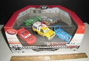 Disney Store Cars - Diecast Metal Piston Cup 5 Pack - Mcqueen - Pizza Planet
