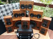 Usa Mfg Shure Hts 50lrs Pro Home Theater Amp Sub 9.1 Center Channel Mid Speaker