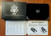 1998 United States Mint Premier Silver Proof Set With Box And Coa