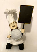 Chef Statue With Menu Chalk Board And Skillet - 22 Tall