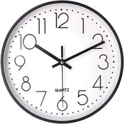 50x10 Inch Silent Non-ticking Wall Clock Battery Operated Decorative For
