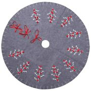 50xchristmas Tree Skirt 120cm Round Carpet Christmas Decorations For Home Floor