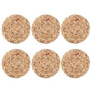 50x6pack Round Woven Placemats For Dining Table 7.8 Inch St Braided Placemat