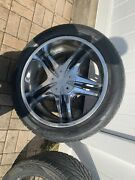 Status 22 Inch Rims Deep Dish And Tires Used