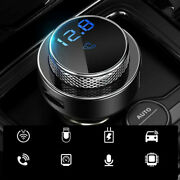Bluetooth 5.0 Car Fm Music Transmitter Mp3 Player Usb Charger Aux Handsfree 12v