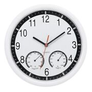 50xquartz Stone Clock Silent Wall Clock Accurate Thermometer Humidity Indoor