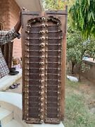 Vintage Wooden Brass Iron Fitted Handcrafted Indian Rare Castle Window Door