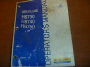 New Holland H6730 H6740 H6750 Disc Mower Owner Operator Manual 87638168