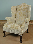 Extremely Comfortable George Iii Mahogany Wingback Chair C. 1780