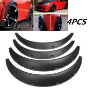 4 X Universal Car Truck Tires Fender Flares Over Wide Body Wheel Arches Flexible