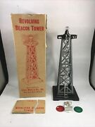 Mar Toys Revolving Beacon Tower Toy Train Set Accessory With Original Box
