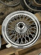 American Wire Wheel 16andrdquo 80 Spoke Front Wheel For Andlsquo84-andlsquo99 Harley Davidson