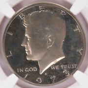 Ngc 50c 1973-s Proof Kennedy Half Double-struck Obverse Rotation Pf67 Cameo