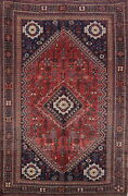 Antique Geometric Traditional Oriental Area Rug Wool Hand-knotted 7x11 Ft Red