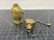 Vintage Leviton Brass Fat Bulb Socket And Pull Switch