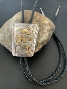Collectible Vintage Navajo Horse Sterling Silver Bolo Old Pawn Signed 02020 Gf