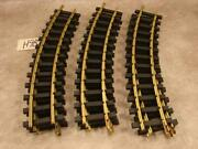 H98 Vintage Lot Of 9 Usa Trains G Scale Solid Brass Track Curved Radius 15 Long