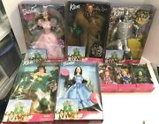Lot 8 Wizard Of Oz Dolls 5 Barbie Or Ken And 3 Munchkin New In Boxes Free Shipping