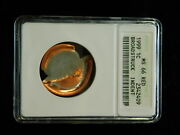 1999 Lincoln Memorial Cent - Anacs Ms66 Red W/ Boradstruck Indent