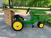 Vintage Rare Ertl 520 John Deere Pedal Tractor And Wagon Mint Never Used.