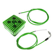 Green Cnc Square Cylinder Head And Throttle Line Fit 80cc Motorized Bicycle Engine