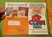 1970's Weekly Reader The Popcorn Bag Paper Sales Ad Rare Collectible Books