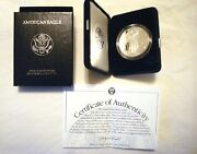 1997-p U.s. American Eagle 1oz Silver Dollar Proof Coin With Box And Coa
