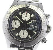 Breitling Super Ocean A13340 Chronograph Black Dial Automatic Menand039s Watch_617056